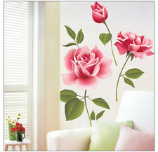 Romantic Rose Flower Wall Stickers Removable Decal Home Decor DIY Art Decoration