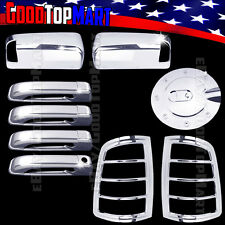 For Dodge RAM 1500 2500 3500 2009-2016 Chrome Covers Mirror+Doors+Gas+Tail Light