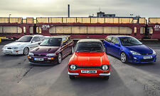 FORD RS COSWORTH ESCORT POSTER - A3 SIZE 297x420mm - FAST SHIPPING FROM UK