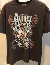 Rare Avirex Est.1975 Men's Brown T-Shirt Stack Buns and Ones Graphic Tee XXL