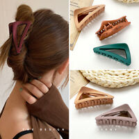 Women Scrub Triangle Hair Clip Claws Acrylic Hairpin Clamp Barrette Geometric