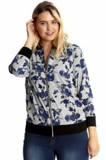 Casual Floral Viscose Outer Shell Coats, Jackets & Waistcoats for Women