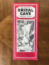 Vintage 1950's BRIDAL CAVE CAMDENTON MISSOURI FOLD OUT COLOR BROCHURE