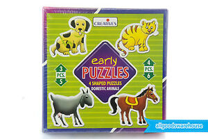 Creative's Early Puzzles Domestic Animals Kids Educational Aid Develop Skills