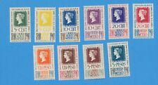 MEXICO - Scott C103-C107 unused light hinged  - Penny Black stamp on stamp 1940