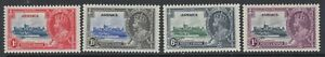 Jamaica, Scott 109-112 (SG 114-117), MHR
