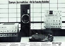 PUBLICITE ADVERTISING 027  1979  Sanyo (2p) chaine hi-fi  ampli tunners