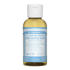 Dr Bronner's Hemp Castile Liquid Soap Organic Oils Bronners 11 Varieties 59ml Unscented Baby Mild