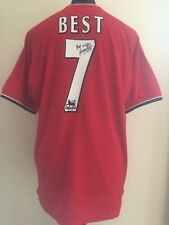 Manchester United 2001 Number 7 Shirt Signed By George Best With Guarantee