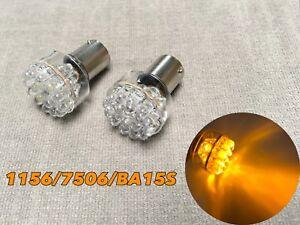 Rear Turn Signal Light Amber 1156 7506 BA15S P21W 24 T1 LED bulb W1 JA