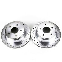 Power Stop AR85155XPR Evolution Drilled and Slotted High Performance Rear Rotor Pair