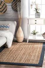 Jute Handmade Home Decorative Natural Indian Braided Floor Reversible Rag Rugs