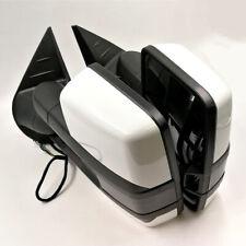 For 03-06 Silverado Painted White Tow Mirror Power+Heated+Smoke Led Turn Signal