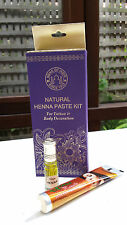 BNIB Song of India Henna Tattoo Kit incl Stencils, Henna paste 26ml & Henna oil