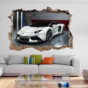 Supercar Sports Car Wall Sticker Mural Decal Kids Boys Bedroom Decor DH111