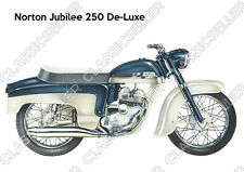 Norton Jubilee 250 De-Luxe Motorrad Poster Plakat Bild Kunstdruck Schild Affiche