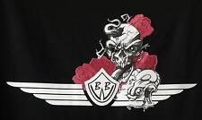 Bourget's Bike Works Skull & Snake Short Sleeve in Black