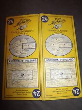 Carte  michelin 24 andermatt bolzano 1955