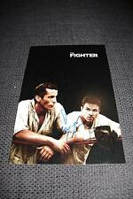 THE FIGHTER signed Autogramm CHRISTIAN BALE MARK WAHLBERG & MELISSA LEO InPerson
