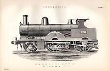 1880 Imprimé~Locomotive~Composé Express Loco ~ par F. W. Webb