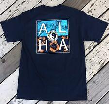 T&C TOWN and COUNTRY Surf HAWAII Design • ALOHA Company Logo • Mens Shirt MEDIUM