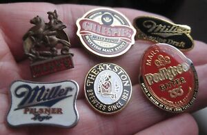BREWERY marston theakston gillespies manns miller vintage lot of pin BADGES