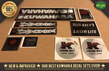 Kuwahara LASERLITE BMX Custom Chrome Frame Decal Stickers - Version #1 83 - 85