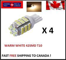 4X Warm White T10/921/194 RV Trailer 42-SMD 12V Backup Reverse LED Lights Bulbs