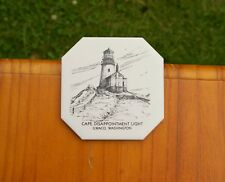 Cape Disappointment Light Ilwaco, Washington Tile Coaster Sunflower Creations Or