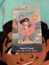 Disney Moana Beach Towel With Pua And Hei Hei 28 x 58