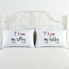 Love Couple Pillowcases Living Room Protector Pillow case Cover Queen/King Size