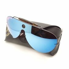 Ray Ban 3581 N 153/7V Gloss Black Violet Blue Mirror New Sunglasses Authentic