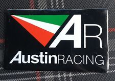 2 x AR Austin Racing Aluminium Exhaust Heat Proof Resistant Sticker Decal