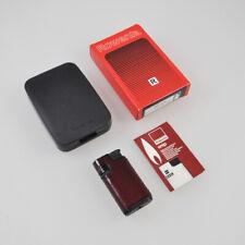 Rowenta 422 Snip - altes Feuerzeug - Gasfeuerzeug - Vintage Lighter - Leder rot
