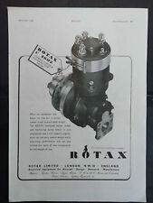 Rotax Limited Combined Starter Motor & Pump Motor 1940's Magazine Advert #B4868