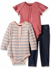 Baby girl 7 for all mankind 3 piece outfit 1 long &1 short sleeve, jeans 24 mon.