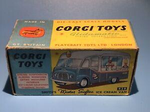 CORGI TOYS VINTAGE 428 SMITHS MR SOFTEE ICE CREAM VAN ORIGINAL OUTER BOX RARE