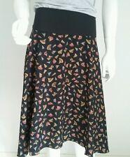 QUICK BROWN FOX women's skirt size 12 14 large black full swing