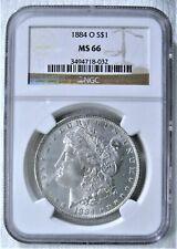 1884-O Morgan Silver Dollar NGC MS-66