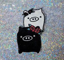Monokuro Boo Patch Anime Pigs - SAN-X  Kawaii - Black & White Piglets Japanese