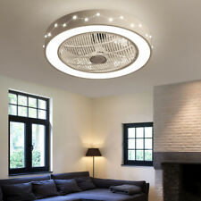 """22"""" Ceiling Fan Lamp Constellation Style Dimmable Led Light For Home Deco+Remote"""
