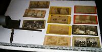 Vintage 1897 Wooden Stereoscope Viewer with 11 Stereo Photo Cards Stereoviews