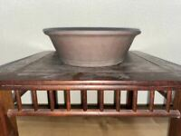 Bonsai pot, Yamaaki, Tokoname, round pot, flower pot