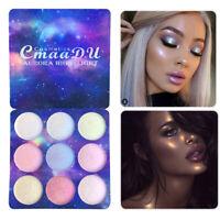 9 Colors Pearl Glitter Eye Shadow Powder Palette Matt Eyeshadow Cosmetic Makeup