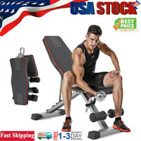 Adjustable Weight Bench Foldable Incline Decline Full Body Workout Gym Exercise