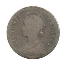 1887 British India Silver 1/4 Rupee