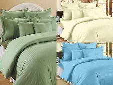 100% Egyptian Cotton Solid Pattern Flat Bed Sheets With 2 Pillow Covers