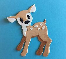 1 ADORABLE BABY DEER.  EMBELLISHMENTS. PAPER PIECING. CARDS. SCRAPBOOK PAGES.
