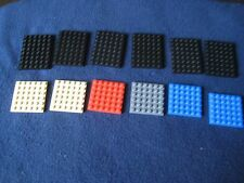 Lego Lot of 12 Multi Colored & Multi Size Plates 6 x 6 and 6 x 8