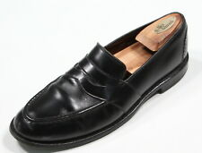 ALLEN EDMONDS Glossy Black 'Randolph' Leather Slip on Penny Loafers US 10.5